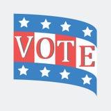 Głosujący pojęcie głosowaniem styl zaznacza usa Zdjęcia Stock