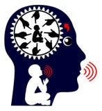 Głosy Wewnętrzny dziecko royalty ilustracja