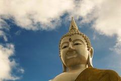Głowa biały Buddha Obrazy Stock