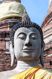 Głowa Buddha statuy zakończenie Tajlandia Obraz Stock