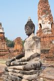 Głowa Buddha wewnątrz bluesly fotografia royalty free