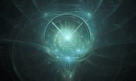 głowa fractal duch ilustracja wektor