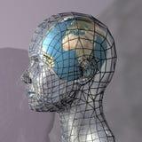 głowa globus mieszkalnictwa Fotografia Royalty Free