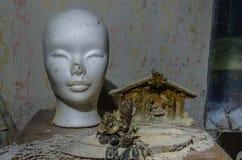 głowa i przedmioty w pokoju zdjęcie stock