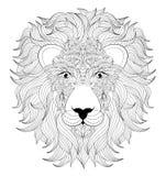 Głowa lew royalty ilustracja