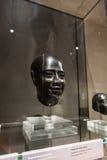 Głowa męska statua w Museo Egizio w Turyn Obraz Royalty Free