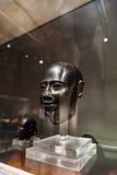 Głowa męska statua w Museo Egizio w Turyn Zdjęcie Stock