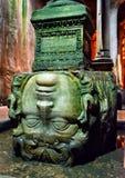 Głowa meduza w bazyliki spłuczce w Istanbuł Fotografia Stock