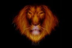 Głowa pożarniczy lew royalty ilustracja