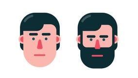 Głowa postać z kreskówki mężczyzna mówi tak i nie ilustracji