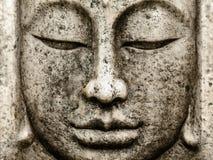 Głowa stara Buddha statua zdjęcie stock