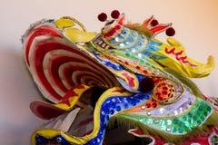 Głowa tradycyjny kolorowy Chiński lew parada nowy rok Fotografia Stock