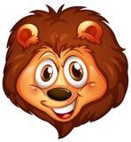 Głowa uśmiechnięty lew Obrazy Royalty Free