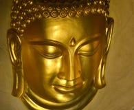 Głowa złoty Buddha przy Watem Khao Wong, Saraburi prowincja, Tajlandzka Zdjęcia Stock