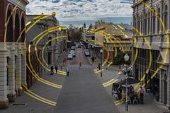 Głownej Ulicy wizualna głupota, Fremantle zachodnia australia zdjęcie stock