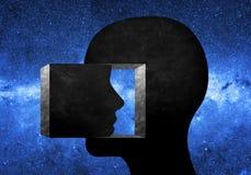 Głowy inside inny głowa Zdjęcie Stock