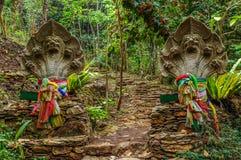 Głowy Naga z multicolor jedwabniczą tkaniną Zdjęcia Royalty Free
