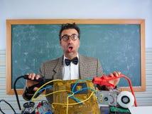 Głupek elektronika technika retro niemądry wyrażenie zdjęcie stock