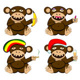 Głupi małpa set royalty ilustracja