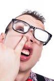 Głupka mężczyzna zrywania nos Obrazy Royalty Free