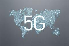 5g互联网连接技术的概念 皇族释放例证
