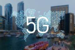 5g互联网连接技术的概念 库存例证