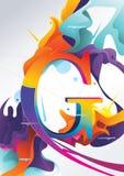 G信函彩色插图 库存例证