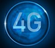 4G在数字式背景的标志 图库摄影