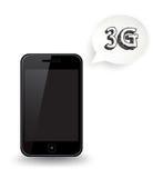 3G巧妙的电话 免版税库存照片
