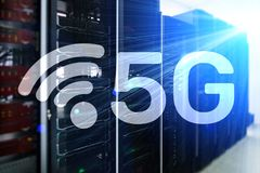 5G斋戒无线互联网连接通信流动技术概念 库存照片