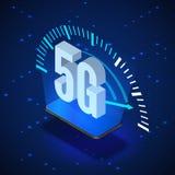5G无线网络系统 流动互联网技术 等量横幅5G网络技术 r 向量例证