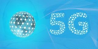 5G流动互联网连通性的网络下一代 库存例证