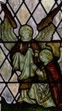 G的诸圣日教会彩色玻璃南墙壁关闭 免版税图库摄影