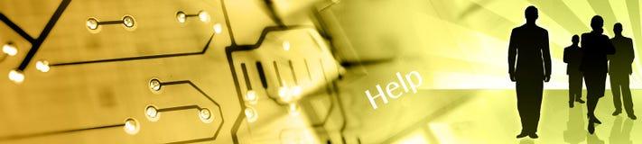 główka banner Obraz Stock