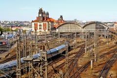Główna stacja w Praga, republika czech Obrazy Royalty Free
