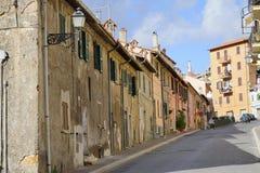 Główna ulica Allumiere Fotografia Stock