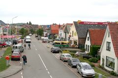 Główna ulica Oudeschild Zdjęcie Stock