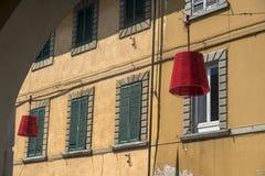 Główna ulica Ponsacco, Tuscany Zdjęcia Royalty Free