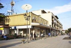 Główna ulica w Gevgelija macedonia Obrazy Stock