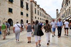 główna ulica w starym miasteczku Dubrovnik Fotografia Stock
