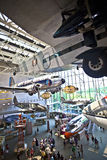 Główny Hall Krajowy powietrze Astronautyczny muzeum w washington dc i Obrazy Stock
