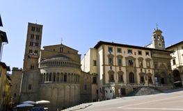 Główny Plac Arezzo Obraz Royalty Free