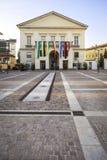 Główny plac Mortara, Lombardy: miasto teatr koloru córek wizerunku matka dwa Obraz Stock