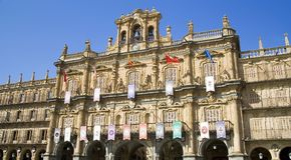 główny plac Salamanca Fotografia Royalty Free