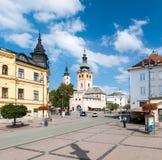 Główny plac SNP, Banska Bystrica Obrazy Stock