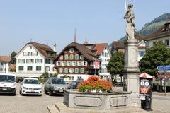 Główny plac Stans na Szwajcaria Fotografia Royalty Free