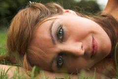 główny portret trawy Zdjęcia Royalty Free