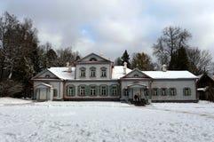 Główny rezydencja ziemska dom w rezerwie «Abramtsevo « zdjęcia royalty free