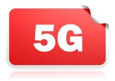 5G έμβλημα κόκκινων τετραγώνων ελεύθερη απεικόνιση δικαιώματος