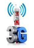 3G ασύρματη έννοια επικοινωνίας Διανυσματική απεικόνιση